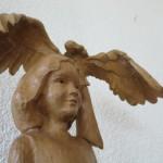 Creapoelka Marianne Willems Hout Meisje met engel 750