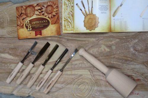 Gereedschap uit Italië van B&B Artigiani. houtgutsen in verschillende uitvoeringen, exclusief via Creapoelka te bestellen